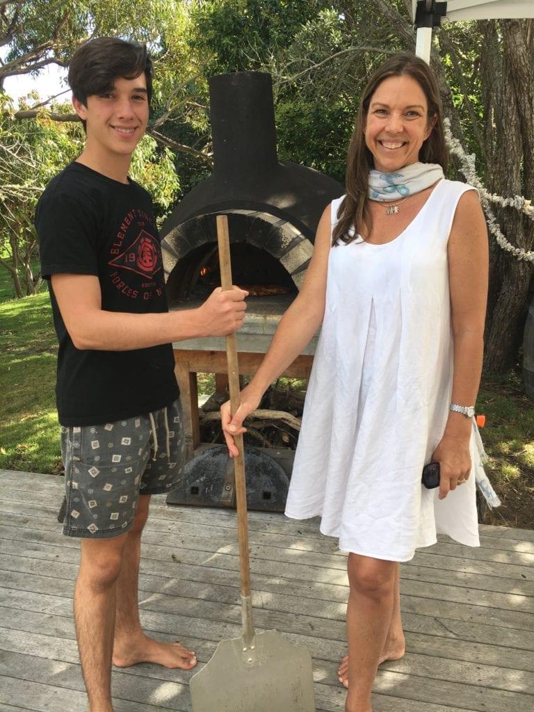 Vanessa & her eldest son.